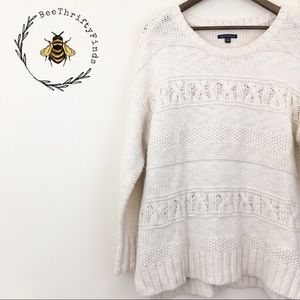 Sale American Eagle | White Knit Sweater